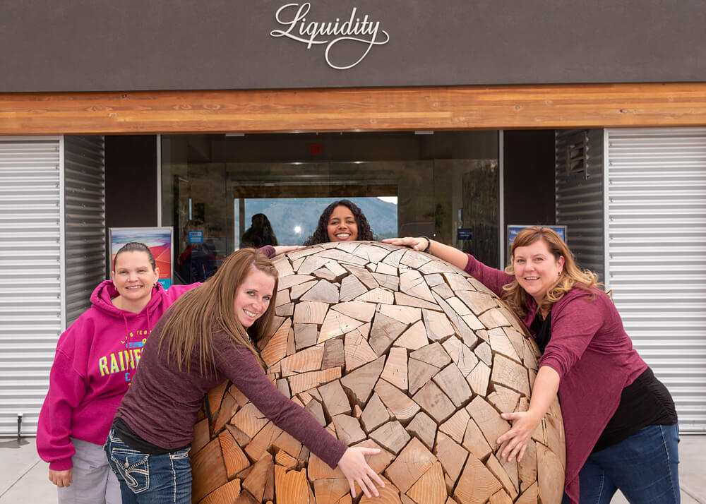 Women Having a Ball at Liquidity Winery OK Falls Wine Tour