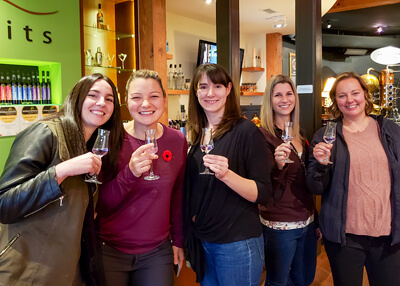 Bachelorette on Private Kelowna Organic Wine Tour at Okanagan Spirits